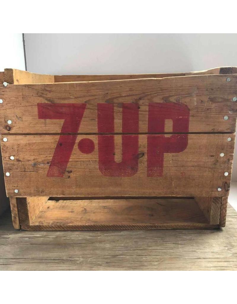 Vintage wooden 7-Up crate