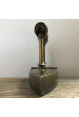 Sad iron - antique box iron with slug, brass, wooden handle