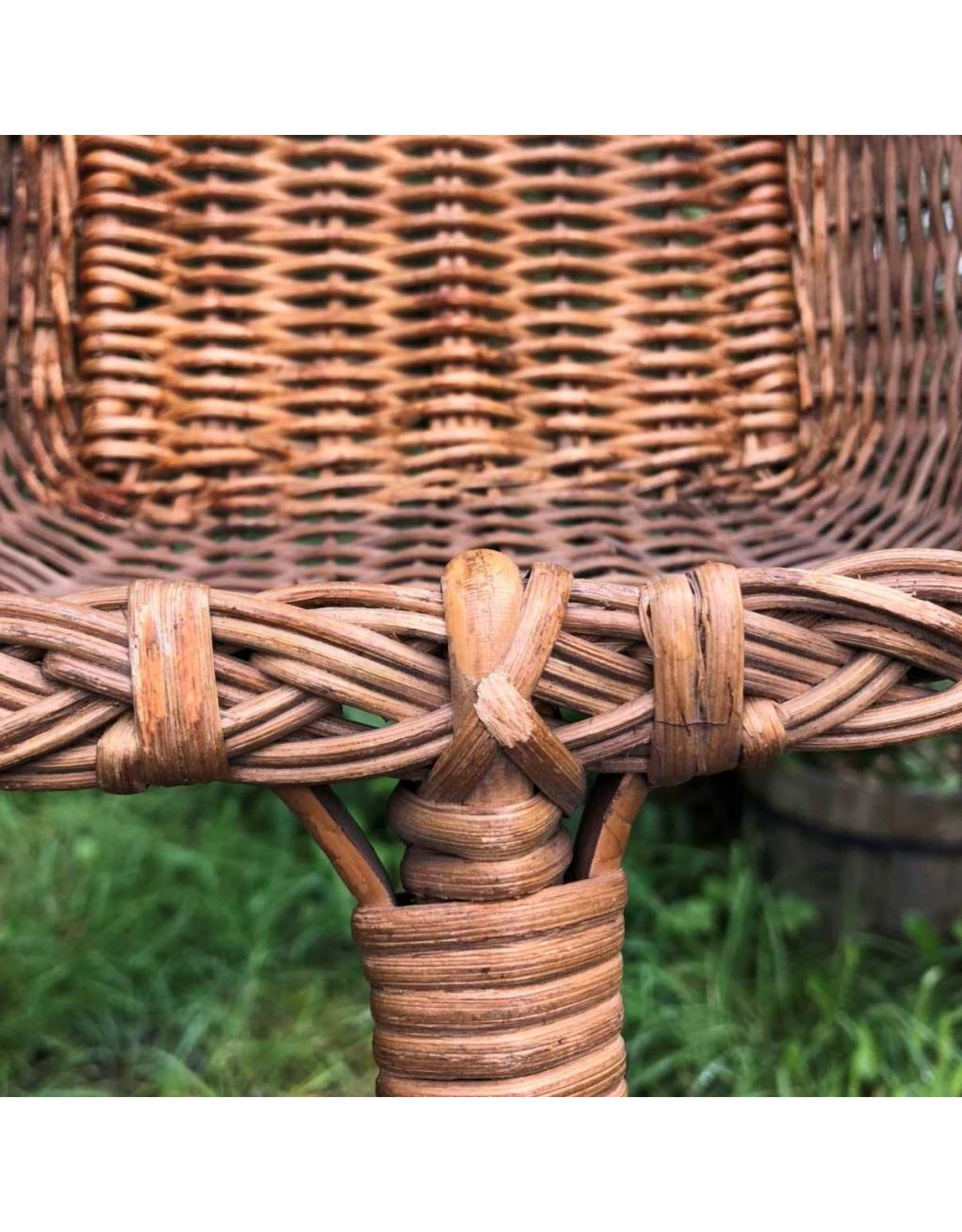 Basket on pole - collections basket