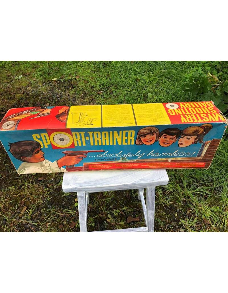 Game - Sport Trainer Mystery Shooting Gallery, lithographed, tin, West Germany, with box, EXCELLENT condition