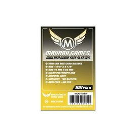 Mayday Games Mayday Sleeves: Mini USA Sleeves 41mm x 63mm Yellow (100)