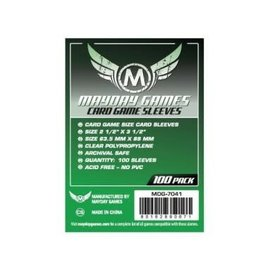 Mayday Games Mayday Sleeves: Card Game Size Green (63.5mm x 88mm)