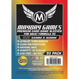 Mayday Games Mayday Sleeves: Premium Race! Formula 90 Card Sleeves 55mm x 80mm (50)
