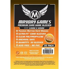 Mayday Games Mayday Sleeves: Premium Yucatan Narrow Card Sleeves 54mm x 80mm (100)