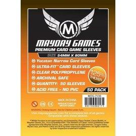 Mayday Games Mayday Sleeves: Premium Yucatan Narrow Card Sleeves 54mm x 80mm (100)