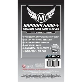 Mayday Games Mayday Sleeves: Premium Magnum Platinum Sleeves: French Tarot 61mm x 112mm (50)