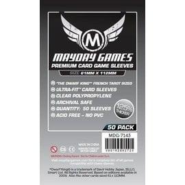 Mayday Games Mayday Sleeves: Premium Magnum Platinum Sleeves: French Tarot 61mm x 112mm (50)