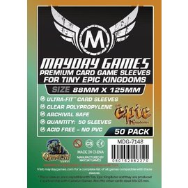 "Mayday Games Mayday Sleeves: 50 ct ""Tiny Epic Kingdoms"" Card Sleeves 88 X 125 MM"