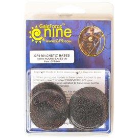 GaleForce Nine Magnetic Bases 40mm Round (9)