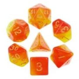 7 Set Polyhedral Dice -Rising Phoenix