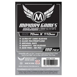 """Mayday Games Mayday Sleeves: """"Lost Cities"""" Magnum Ultra Fit Card Size (70mm x 110mm) (100 pack)"""