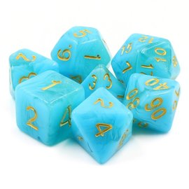 7 Set Polyhedral Dice - Atlantis