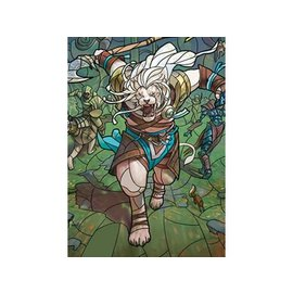 Wizards of the Coast MTG Wall Scroll - Stained Glass - Ajani