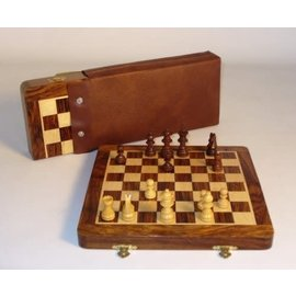 World Wise Imports Magnetic Folding Chess Set with Carrying Pouch