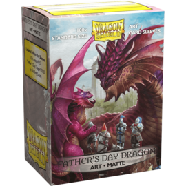 Arcane Tinmen Dragon Shields: (100) Matte Art Sleeves - Father's Day