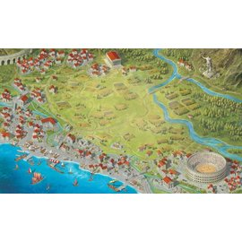 "Arcane Wonders Foundations of Rome 36x60"" Inspired Playmat by Game Toppers Including Carrying Case (LOCAL PREORDER ONLY)"