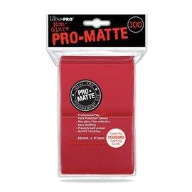Ultra Pro 100ct Pro-Matte Red Standard Deck Protectors