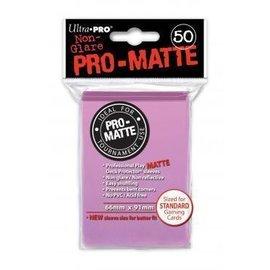 Ultra Pro 50ct Pro-Matte Pink Standard Deck Protectors