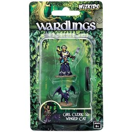 Wizards of the Coast Wardlings Fantasy Miniatures: Girl Cleric & Winged Cat