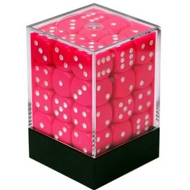 Chessex 36 12mm D6 Dice Block - Opaque - Pink/White - CHX25844