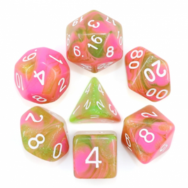 7 Set Polyhedral Dice - Apple Taffy
