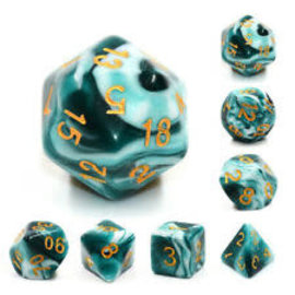 7 Set Polyhedral Dice - Blue Ink