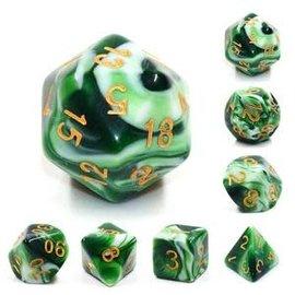7 Set Polyhedral Dice - Jadeite Cabbage