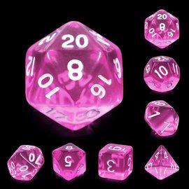 7 Set Polyhedral Dice - Magenta Gems