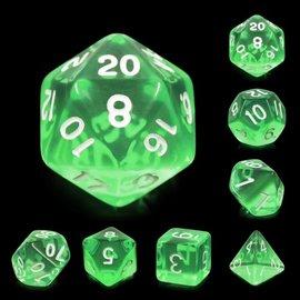 7 Set Polyhedral Dice - Emerald Gems
