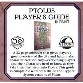 Monte Cook Games Ptolus: Monte Cook's City by the Spire for 5th Edition Player's Guide (PREORDER)
