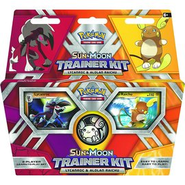 Pokemon International Sun & Moon Trainer Kit Lycanroc & Alolan Raichu