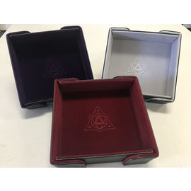 Die Hard Dice Magnetic Square Folding Dice Tray - Red