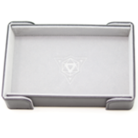 Die Hard Dice Magnetic Rectangle Folding Dice Tray - Gray