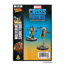 Fantasy Flight Marvel: Crisis Protocol - Wolverine and Sabertooth Character Pack