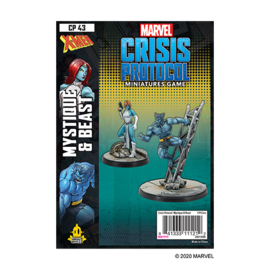 Fantasy Flight Marvel: Crisis Protocol - Mystique and Beast Character Pack
