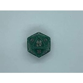 PolyHero Dice PolyHero Dice: D20 Orb - Greenflame & Burnished Bronze