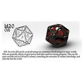 PolyHero Dice PolyHero Dice: D20 Orb - Shadow & Demon's Eye