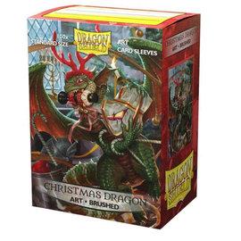 Arcane Tinmen Dragon Shields: (100) Matte Art Sleeves - Christmas Dragon 2020