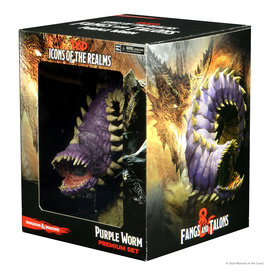 Wiz Kids Dungeons & Dragons Fantasy Miniatures: Set 15 - Fangs and Talons Premium - Purple Worm