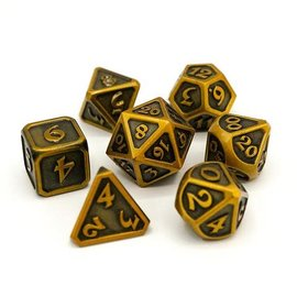 Die Hard Dice Die Hard Dice - Metal 7 Set - Mythica - Battleworn Gold