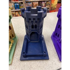 Adam Edmiston Large 3D Printed Dice Tower - Navy Blue