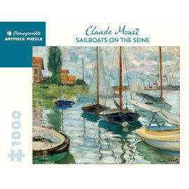 Pomegranate Monet: Sailboats on the Seine 1000-Piece Jigsaw Puzzle