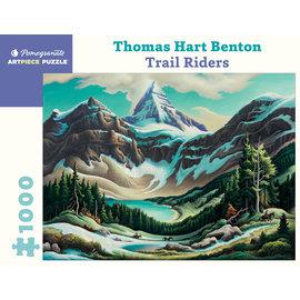 Pomegranate Thomas Hart Benton: Trail Riders 1000-Piece Jigsaw Puzzle