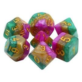 7 Set Polyhedral Dice - Mardi Gras