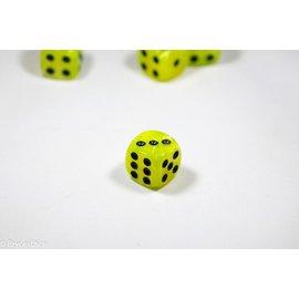 12 16mm D6 Dice Block - Swirl - Yellow/Black