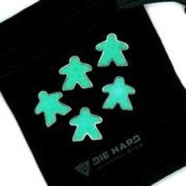 Die Hard Dice Die Hard Dire - Metal Meeples (5) - Platinum Emerald