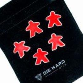 Die Hard Dice Die Hard Dire - Metal Meeples (5) - Platinum Ruby