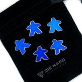 Die Hard Dice Die Hard Dire - Metal Meeples (5) - Platinum Sapphire