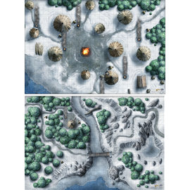 GaleForce Nine Dungeons and Dragons: Icewind Dale Map Set(2x 30in x 20in)
