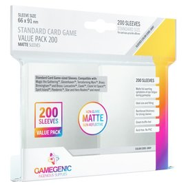 Asmodee Gamegenic - Prime MATTE Board Game Sleeves: Standard Card Game Sleeves 66mm x 91mm (Gray) Value Pack (200)